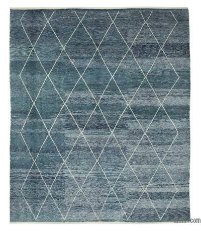 "New Contemporary Hand-Knotted Wool Area Rug - 9'1"" x 11'5"" (109 in. x 137 in.)"