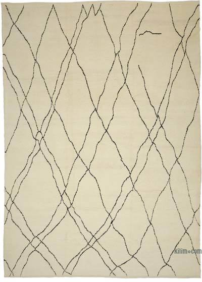 New Contemporary Hand-Knotted Wool Area Rug - 10' x 14' (120 in. x 168 in.)