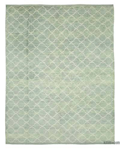 "New Contemporary Hand-Knotted Wool Area Rug - 9'2"" x 11'8"" (110 in. x 140 in.)"