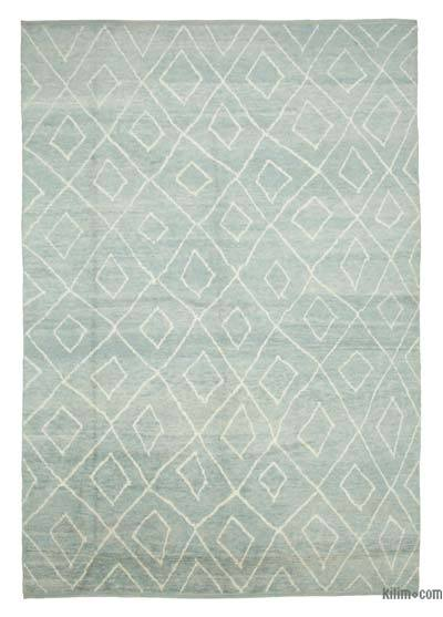 """New Contemporary Hand-Knotted Wool Area Rug - 9'2"""" x 13'1"""" (110 in. x 157 in.)"""