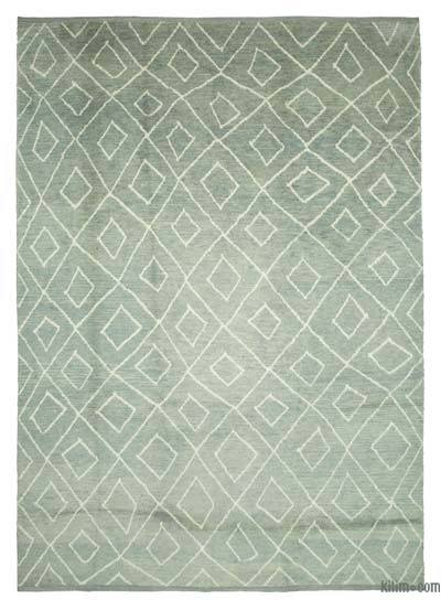 "New Contemporary Hand-Knotted Wool Area Rug - 9'11"" x 13'9"" (119 in. x 165 in.)"