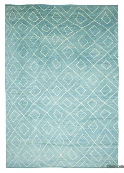 "New Contemporary Hand-Knotted Wool Area Rug - 9' 9"" x 14' 3"" (117 in. x 171 in.)"