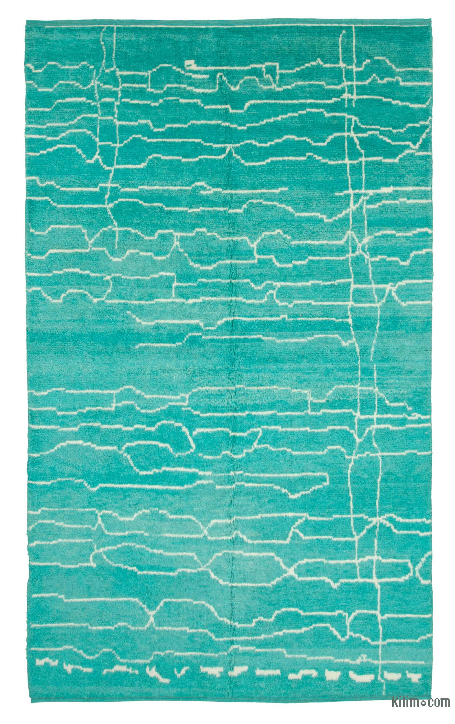Contemporary Hand Knotted Wool Area Rug