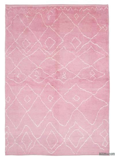 "New Contemporary Hand-Knotted Wool Area Rug - 7'  x 10' 7"" (84 in. x 127 in.)"