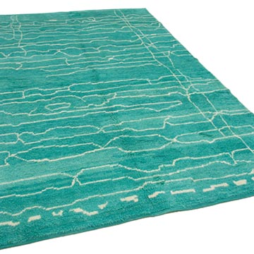 """New Contemporary Hand-Knotted Wool Area Rug - 6' 7"""" x 9' 11"""" (79 in. x 119 in.) - K0039267"""