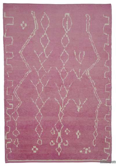 "New Contemporary Hand-Knotted Wool Area Rug - 6'2"" x 9'1"" (74 in. x 109 in.)"