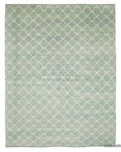 "New Contemporary Hand-Knotted Wool Area Rug - 8'11"" x 11'6"" (107 in. x 138 in.)"