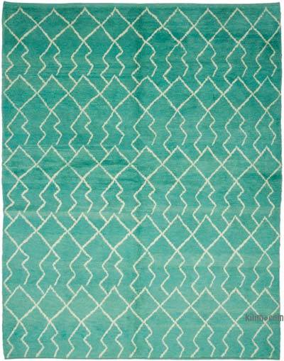"New Contemporary Hand-Knotted Wool Area Rug - 7' 6"" x 9' 4"" (90 in. x 112 in.)"