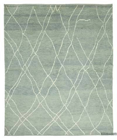 """New Contemporary Hand-Knotted Wool Area Rug - 7'10"""" x 9'8"""" (94 in. x 116 in.)"""