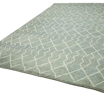 """Grey New Contemporary Hand-Knotted Wool Area Rug - 9' 2"""" x 13' 5"""" (110 in. x 161 in.) - K0039278"""