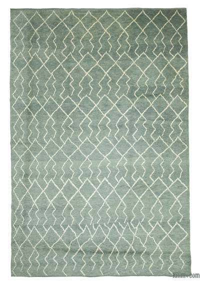 "New Contemporary Hand-Knotted Wool Area Rug - 9' 2"" x 13' 5"" (110 in. x 161 in.)"
