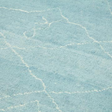 """Blue New Contemporary Hand-Knotted Wool Area Rug - 9' 11"""" x 13' 10"""" (119 in. x 166 in.) - K0039279"""