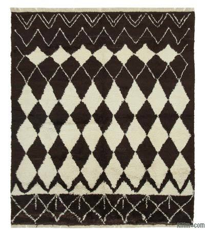 "New Contemporary Hand-Knotted Wool Area Rug - 7' 10"" x 9' 2"" (94 in. x 110 in.)"