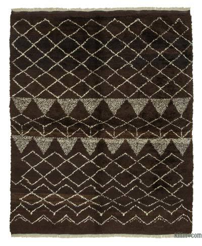"""New Contemporary Hand-Knotted Wool Area Rug - 7' 1"""" x 8' 11"""" (85 in. x 107 in.)"""