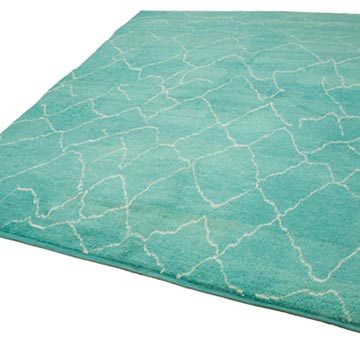 """New Contemporary Hand-Knotted Wool Area Rug - 7' 9"""" x 12' 10"""" (93 in. x 154 in.) - K0039287"""