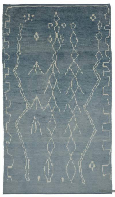 "New Contemporary Hand-Knotted Wool Area Rug - 6'3"" x 10'9"" (75 in. x 129 in.)"