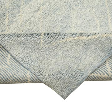 """Blue Moroccan Style Hand-Knotted Tulu Rug - 7' 8"""" x 10' 2"""" (92 in. x 122 in.) - K0039292"""
