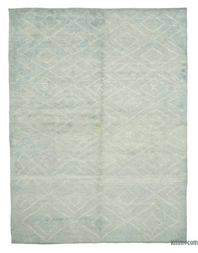 """Blue Moroccan Style Hand-Knotted Tulu Rug - 7' 8"""" x 10' 2"""" (92 in. x 122 in.)"""