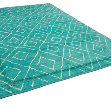 """New Contemporary Hand-Knotted Wool Area Rug - 9' 2"""" x 12' 8"""" (110 in. x 152 in.) - K0039296"""