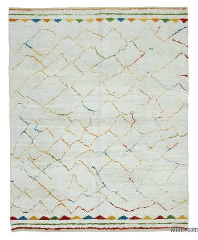 "New Contemporary Hand-Knotted Wool Area Rug - 7' 9"" x 9' 5"" (93 in. x 113 in.)"