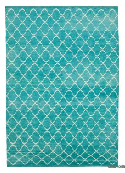 "New Contemporary Hand-Knotted Wool Area Rug - 7' 9"" x 10' 10"" (93 in. x 130 in.)"