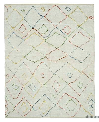 "New Contemporary Hand-Knotted Wool Area Rug - 7'10"" x 10' (94 in. x 120 in.)"