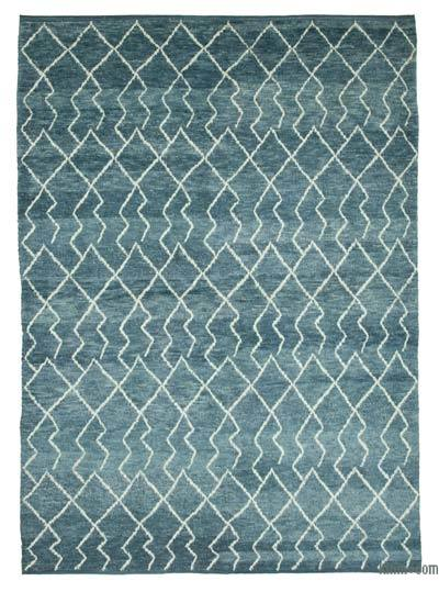 "New Contemporary Hand-Knotted Wool Area Rug - 7' 4"" x 9' 11"" (88 in. x 119 in.)"