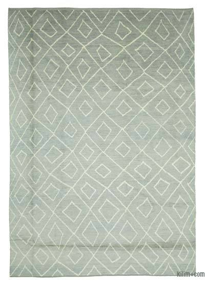 "New Contemporary Hand-Knotted Wool Area Rug - 9' 5"" x 13' 7"" (113 in. x 163 in.)"