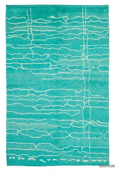 "New Contemporary Hand-Knotted Wool Area Rug - 6' 4"" x 10'  (76 in. x 120 in.)"