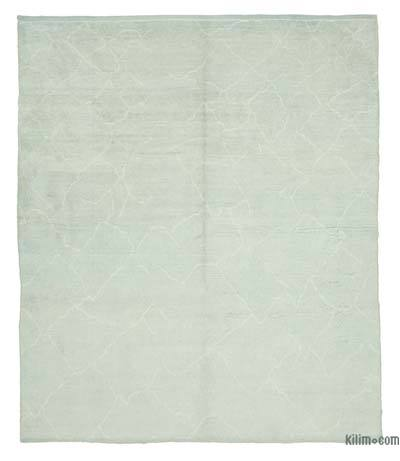 """Blue Moroccan Style Hand-Knotted Tulu Rug - 8' 2"""" x 9' 6"""" (98 in. x 114 in.)"""