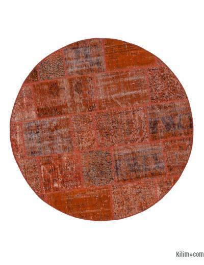 Alfombra De Retazos Turca Sobre-Teñida - 142 cm x 142 cm