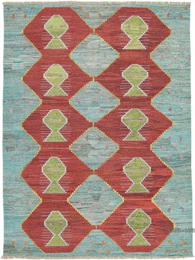 "New Contemporary Handwoven Kilim Rug - 8'11"" x 12'3"" (107 in. x 147 in.) - Vintage Yarn"
