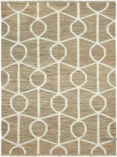 "New Contemporary Handwoven Kilim Rug - 8' 1"" x 10' 6"" (97 in. x 126 in.) - Vintage Yarn"