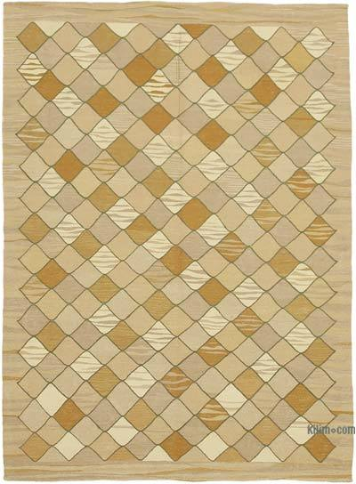 "New Contemporary Handwoven Kilim Rug - 5' 7"" x 7' 9"" (67 in. x 93 in.) - Vintage Yarn"