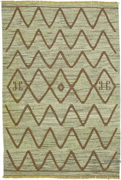 "New Contemporary Handwoven Kilim Rug - 7' 2"" x 10' 4"" (86 in. x 124 in.) - Vintage Yarn"