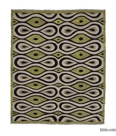 "New Contemporary Handwoven Kilim Rug - 8'6"" x 10'1"" (102 in. x 121 in.) - Vintage Yarn"