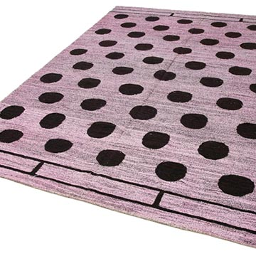 """New Contemporary Handwoven Kilim Rug - 6' 7"""" x 9' 3"""" (79 in. x 111 in.) - Vintage Yarn - K0039560"""