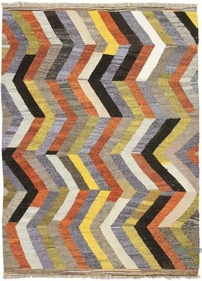 "New Contemporary Handwoven Kilim Rug - 5' 9"" x 8' 2"" (69 in. x 98 in.) - Vintage Yarn"