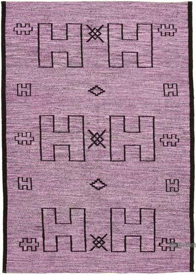 """New Contemporary Handwoven Kilim Rug - 6'3"""" x 8'11"""" (75 in. x 107 in.) - Vintage Yarn"""