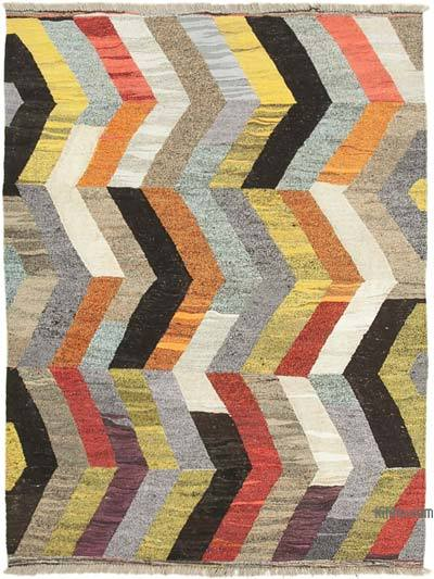 "New Contemporary Handwoven Wool Rug - 5'11"" x 8' (71 in. x 96 in.) - Old Yarn"