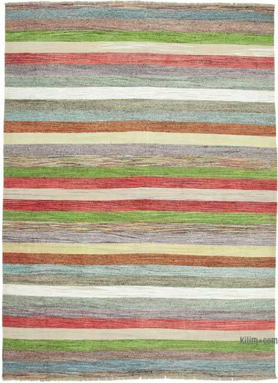 "New Contemporary Handwoven Wool Rug - 8'8"" x 12'3"" (104 in. x 147 in.) - Old Yarn"