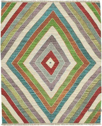 "New Contemporary Handwoven Kilim Rug - 8' 3"" x 10' 4"" (99 in. x 124 in.) - Vintage Yarn"