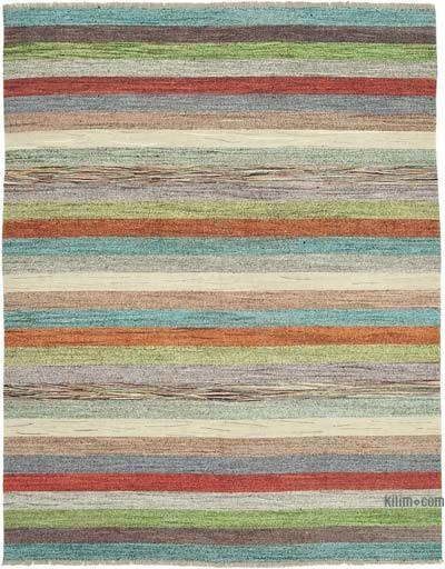 "New Contemporary Handwoven Wool Rug - 8' x 10'6"" (96 in. x 126 in.) - Old Yarn"