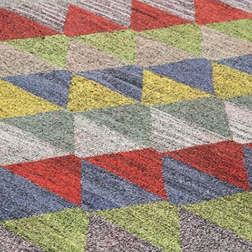 """New Contemporary Handwoven Kilim Rug - 8' 4"""" x 10' 1"""" (100 in. x 121 in.) - Vintage Yarn - K0039578"""