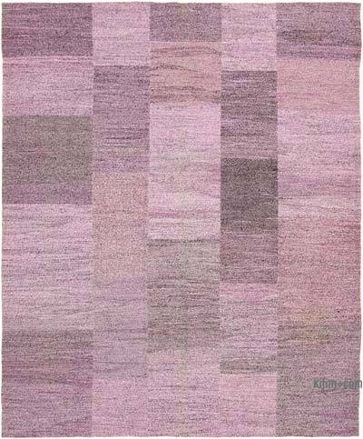 "New Contemporary Handwoven Kilim Rug - 8' 2"" x 9' 11"" (98 in. x 119 in.) - Vintage Yarn"