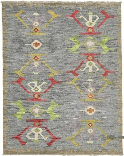 "New Contemporary Handwoven Kilim Rug - 8' 1"" x 10' 3"" (97 in. x 123 in.) - Vintage Yarn"