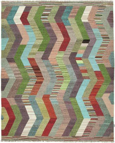 "New Contemporary Handwoven Kilim Rug - 8' 9"" x 11' 2"" (105 in. x 134 in.) - Vintage Yarn"
