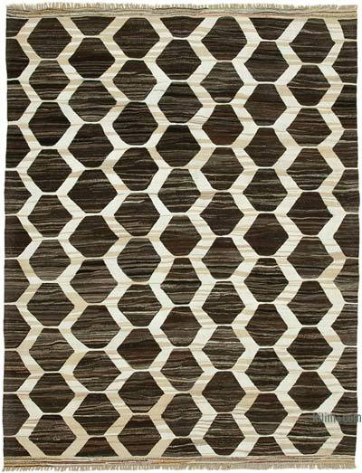 "New Contemporary Handwoven Kilim Rug - 8'4"" x 10'10"" (100 in. x 130 in.) - Vintage Yarn"