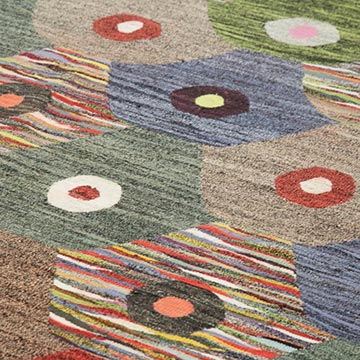 """New Contemporary Handwoven Kilim Rug - 10'  x 14' 1"""" (120 in. x 169 in.) - Vintage Yarn - K0039593"""