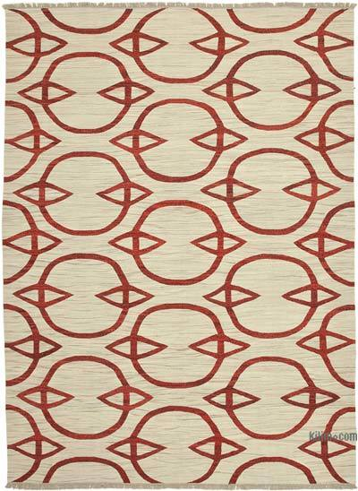"New Contemporary Handwoven Wool Rug - 9'1"" x 12'7"" (109 in. x 151 in.) - Old Yarn"